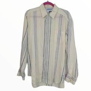 TOMMY BAHAMA L SLEEVE CASUAL ISLAND TRENDS SHIRT